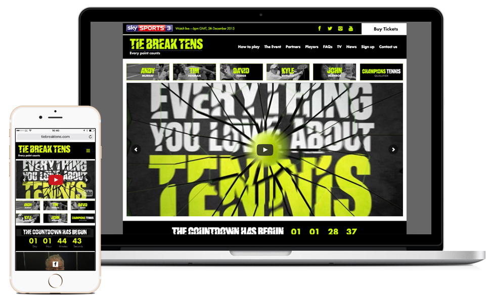 sports markting and responsive website